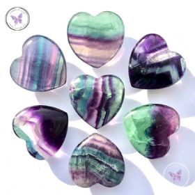 Fluorite Gemstone Crystal Heart
